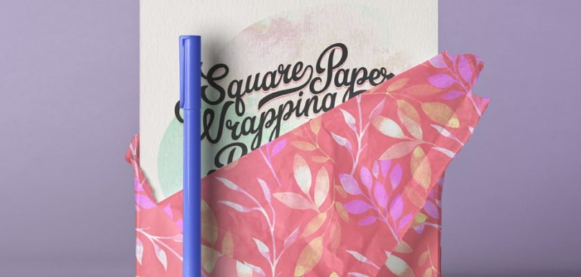 Square Psd Invitation Card Paper Wrap