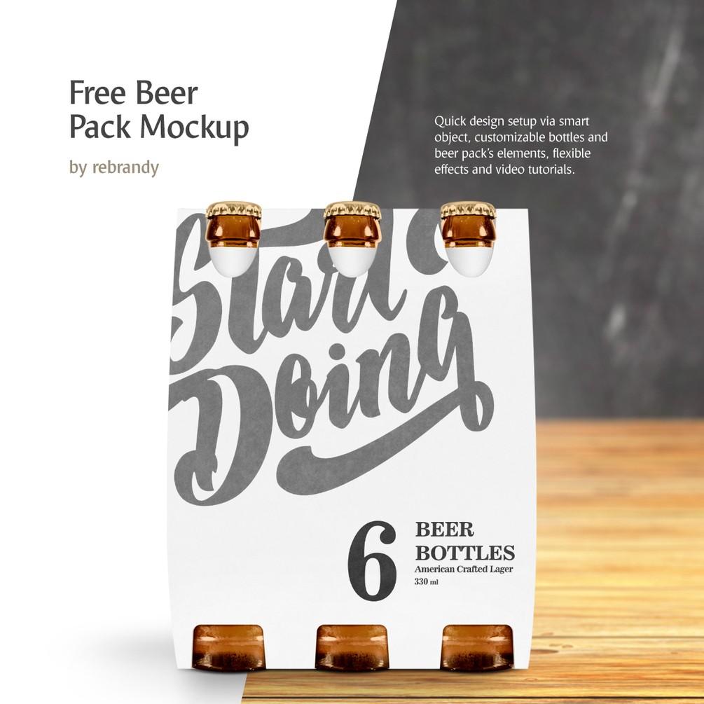 free beer pack mockup  u2013 mckups