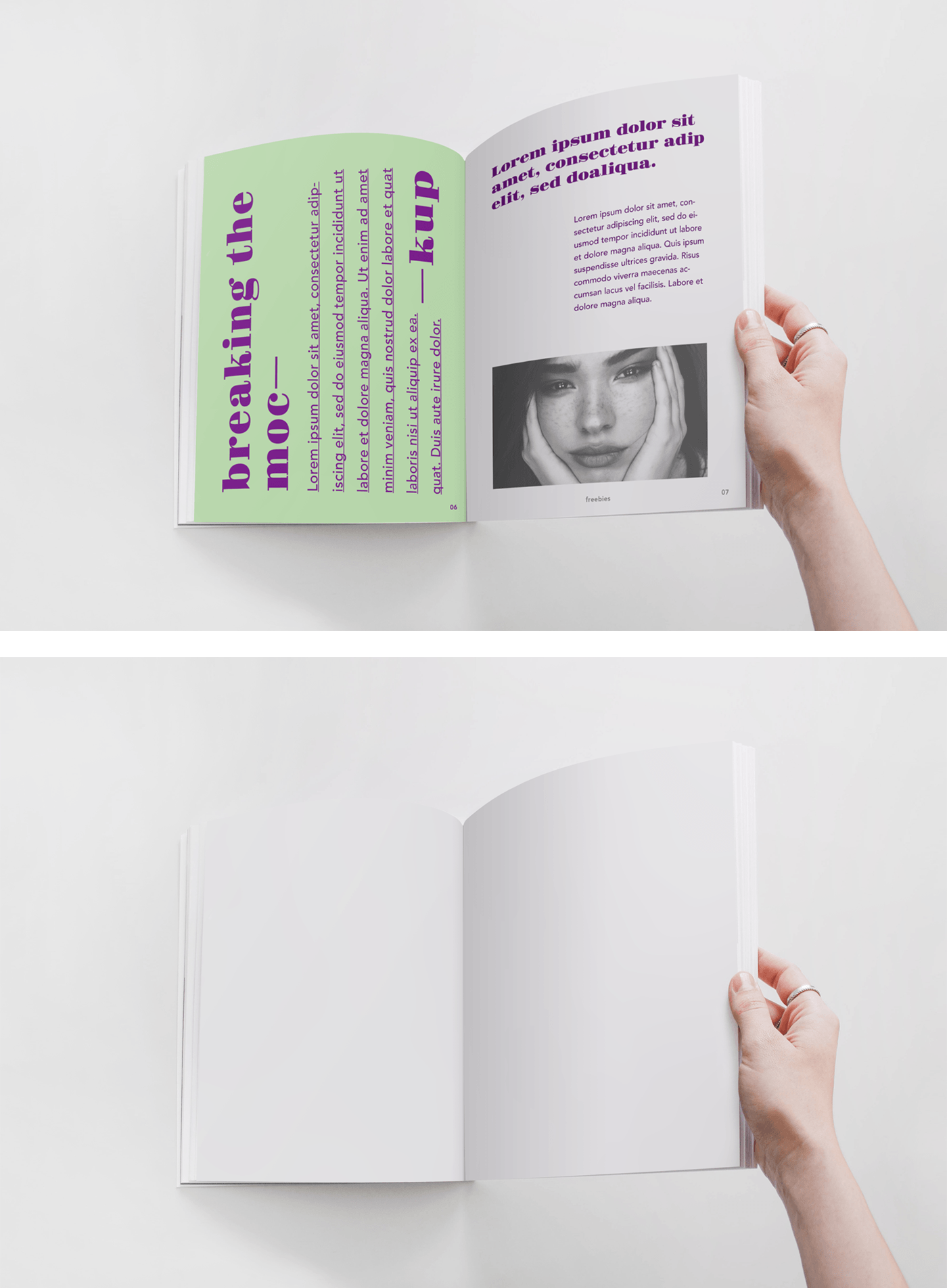 A realistic Magazine PSD Mockup which you can use freely to showcase your next magazine project. All you have to do is place your artwork inside the smart layers, hit save, and you are done. Have fun!