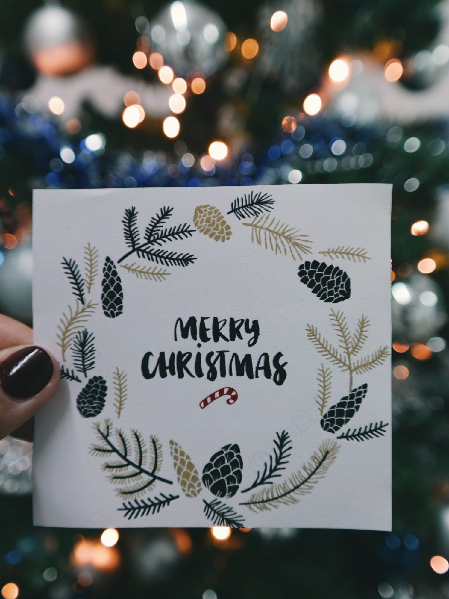 Christmas Card Mockup Template Preview
