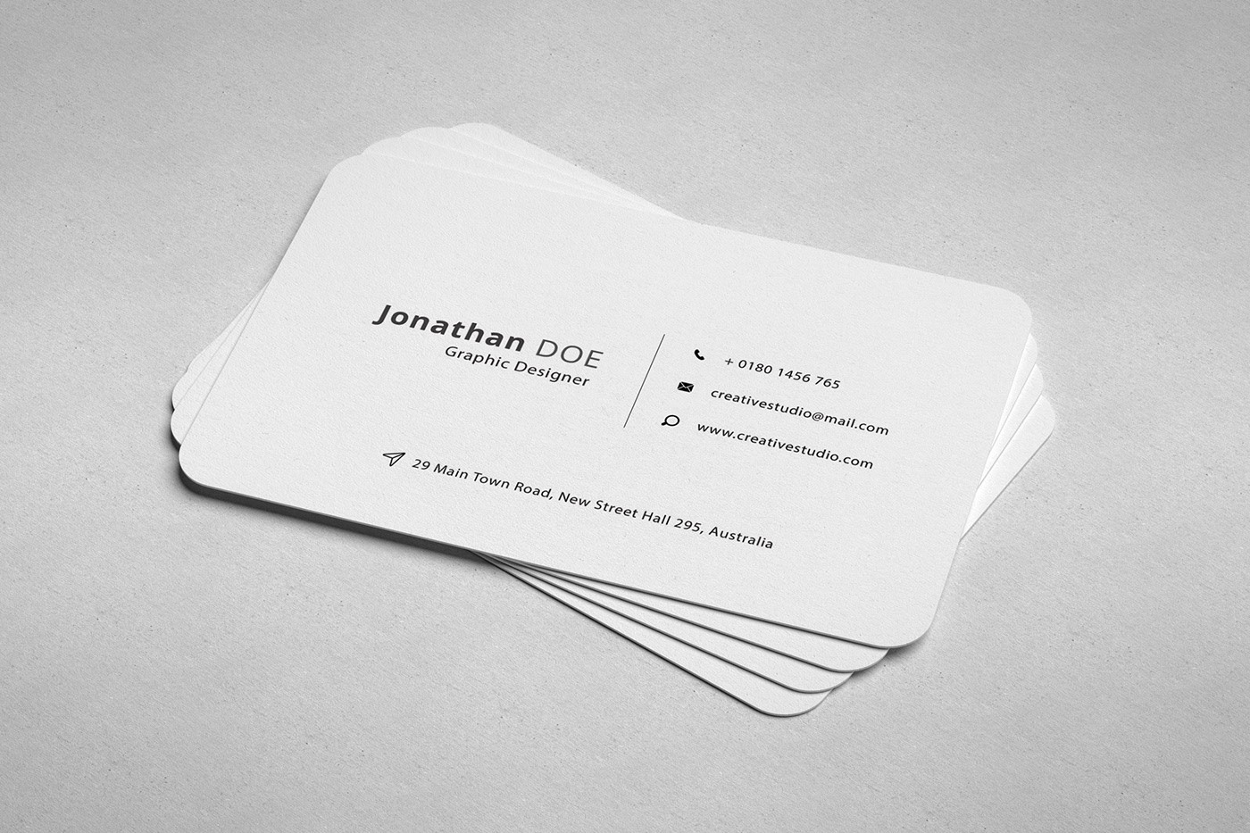 Professional Business Card Free Psd Free Mockup Download