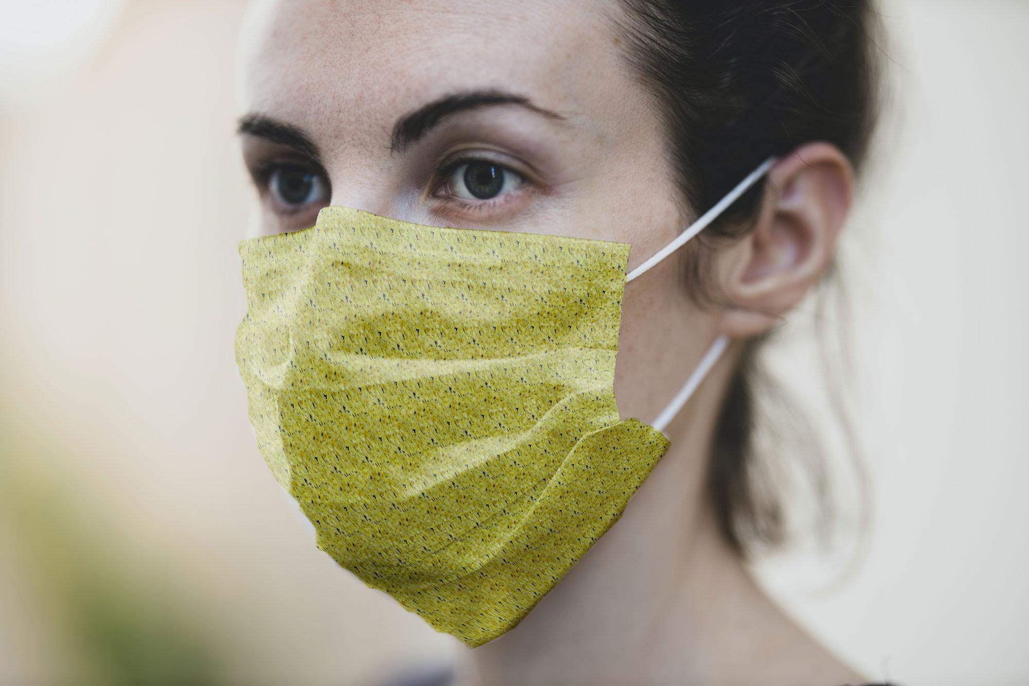 free medical mask mockup