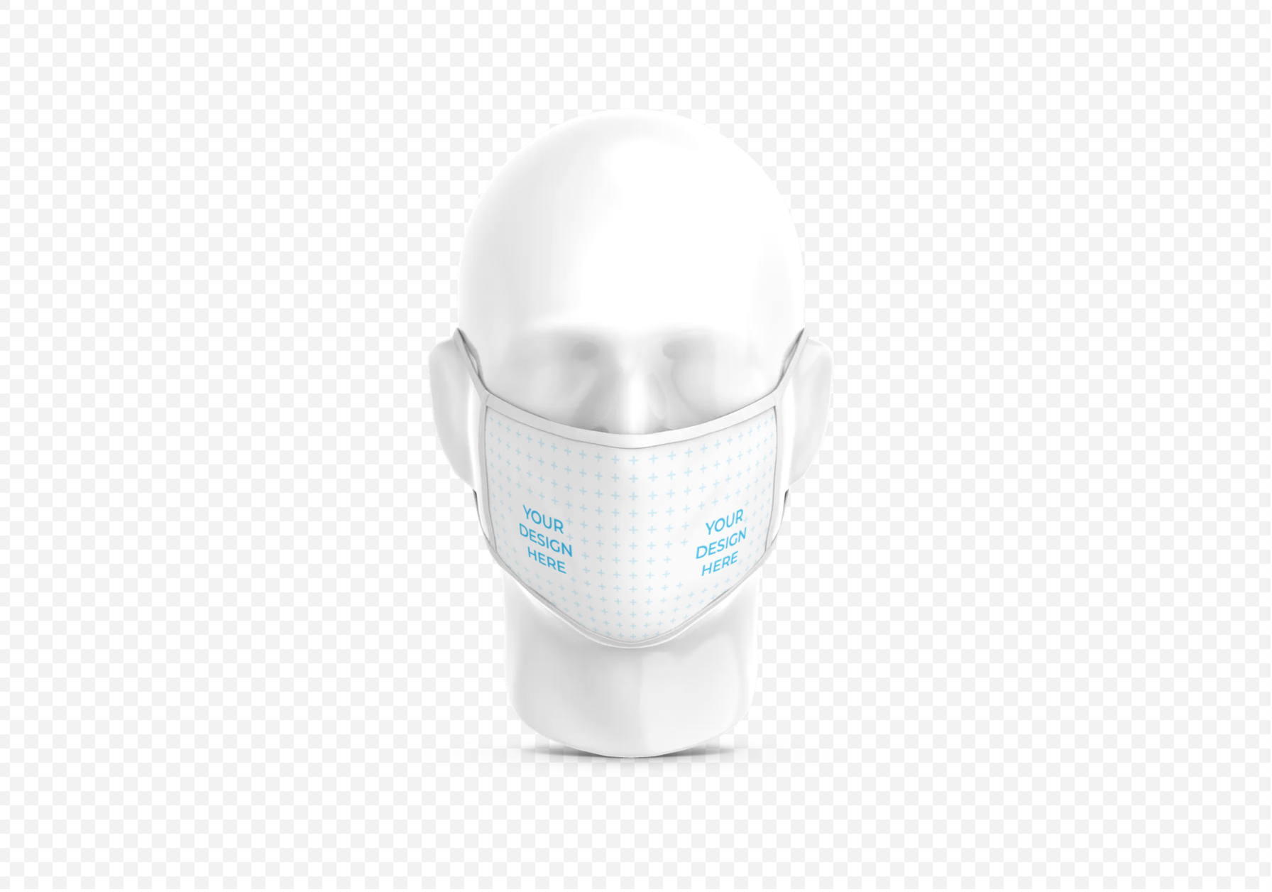 Cloth Face Mask on Plastic Head Free Mockup Generator