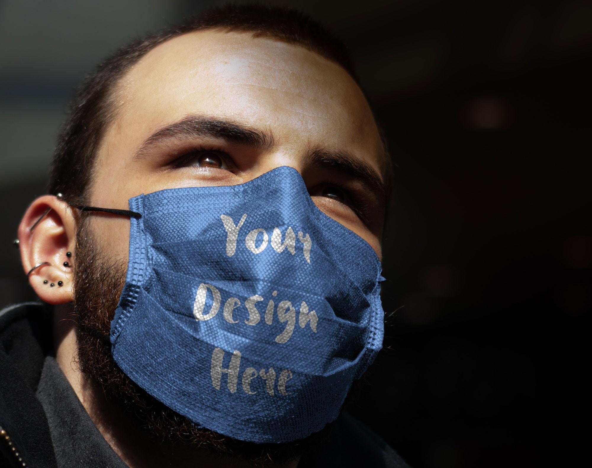 free facemask mockup