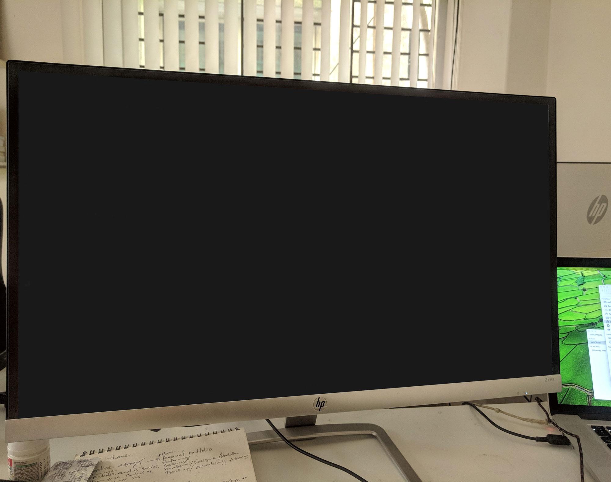 blank external display mockup