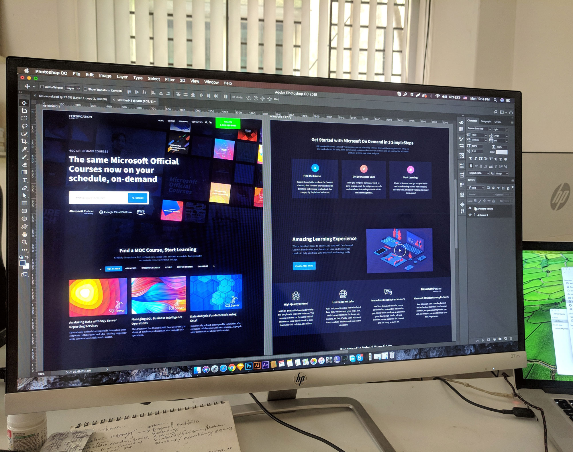 external display mockup work process