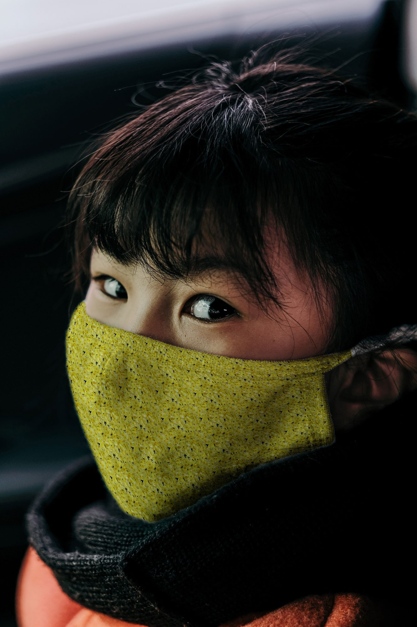 Woman Wearing a Face Mask Mockup