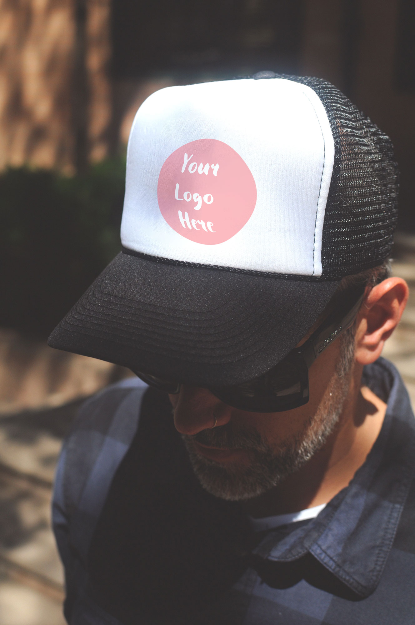 man wearing cap mockup