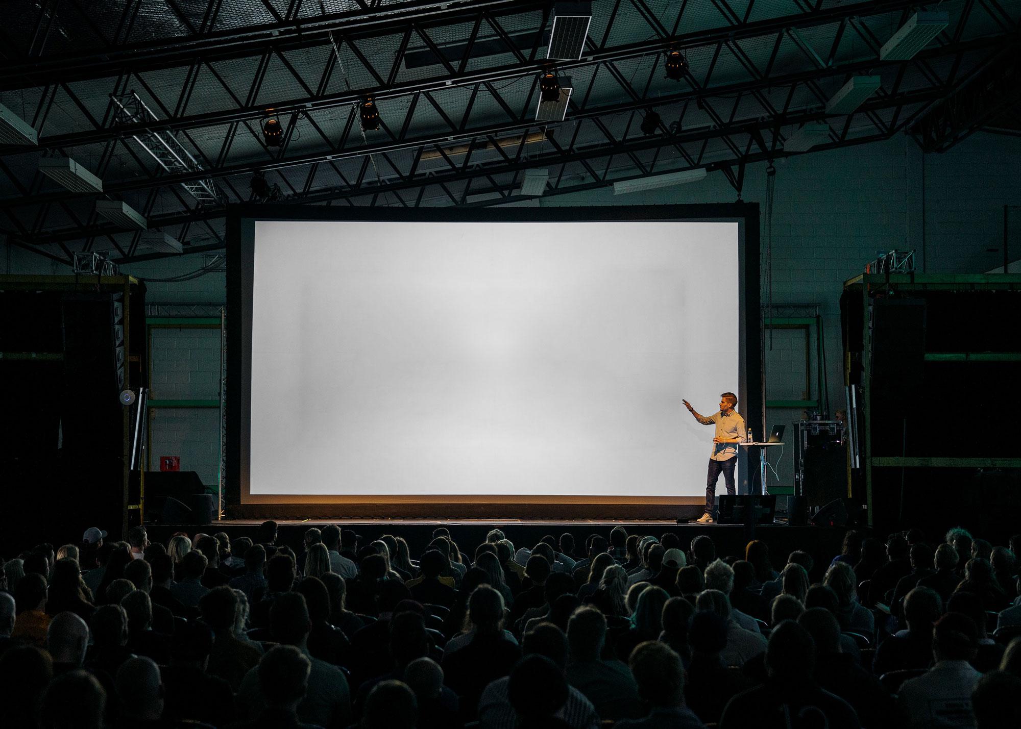 presentation slide mockup blank