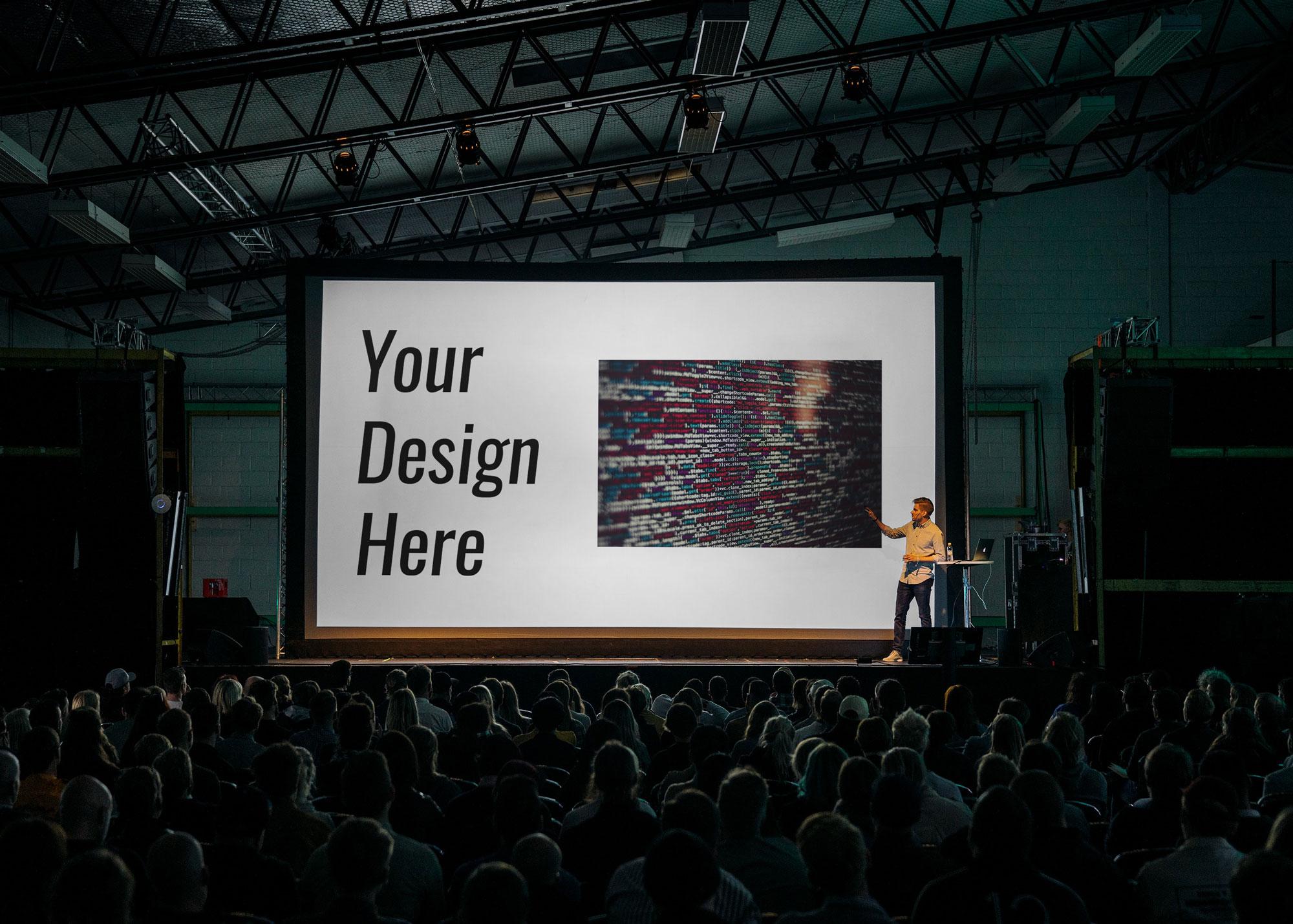 presentation slide mockup
