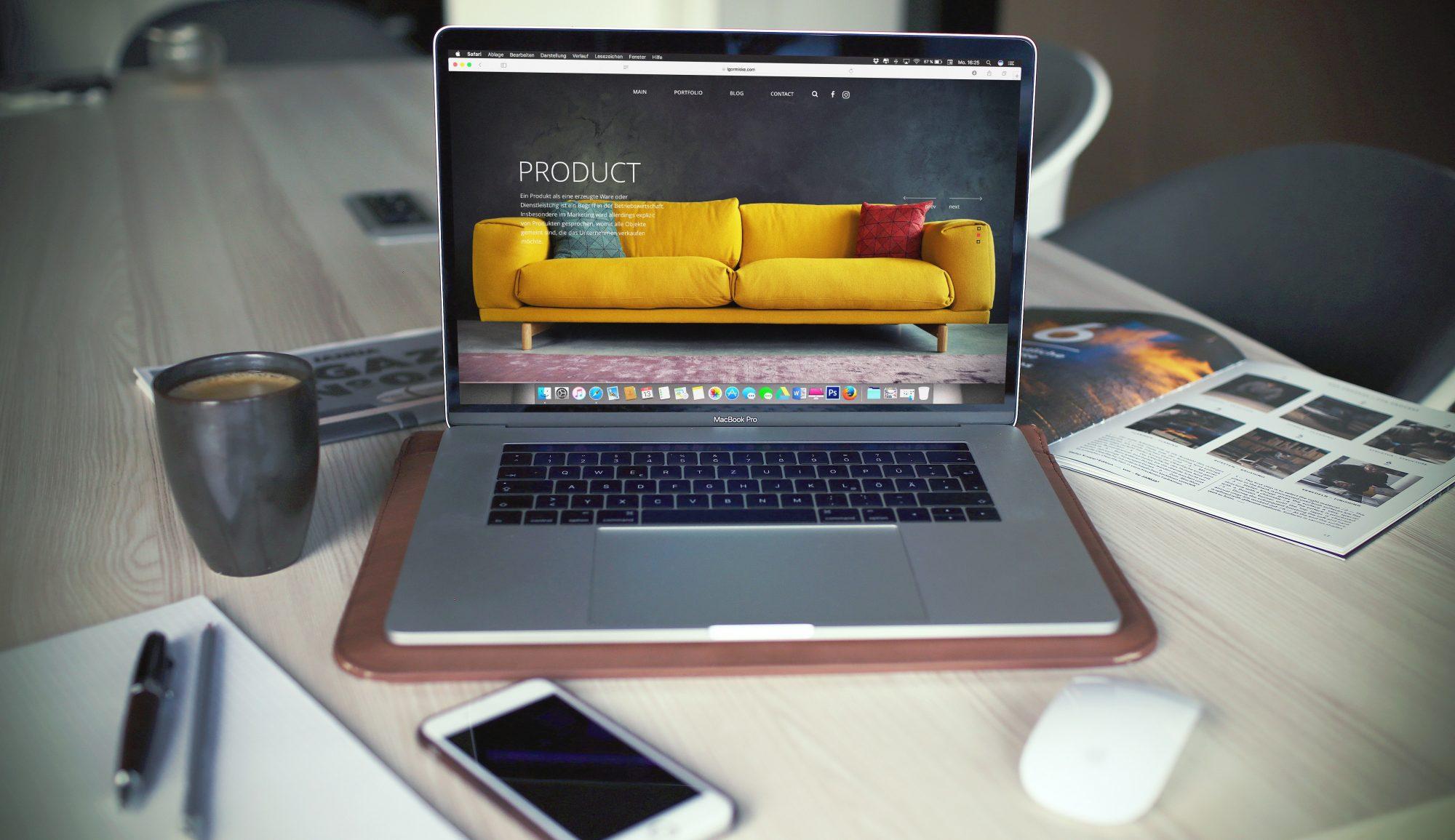 macbook pro website mockup preview