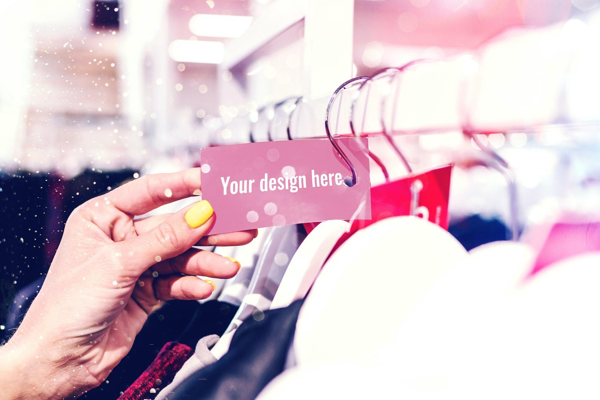 clothing tag mockup