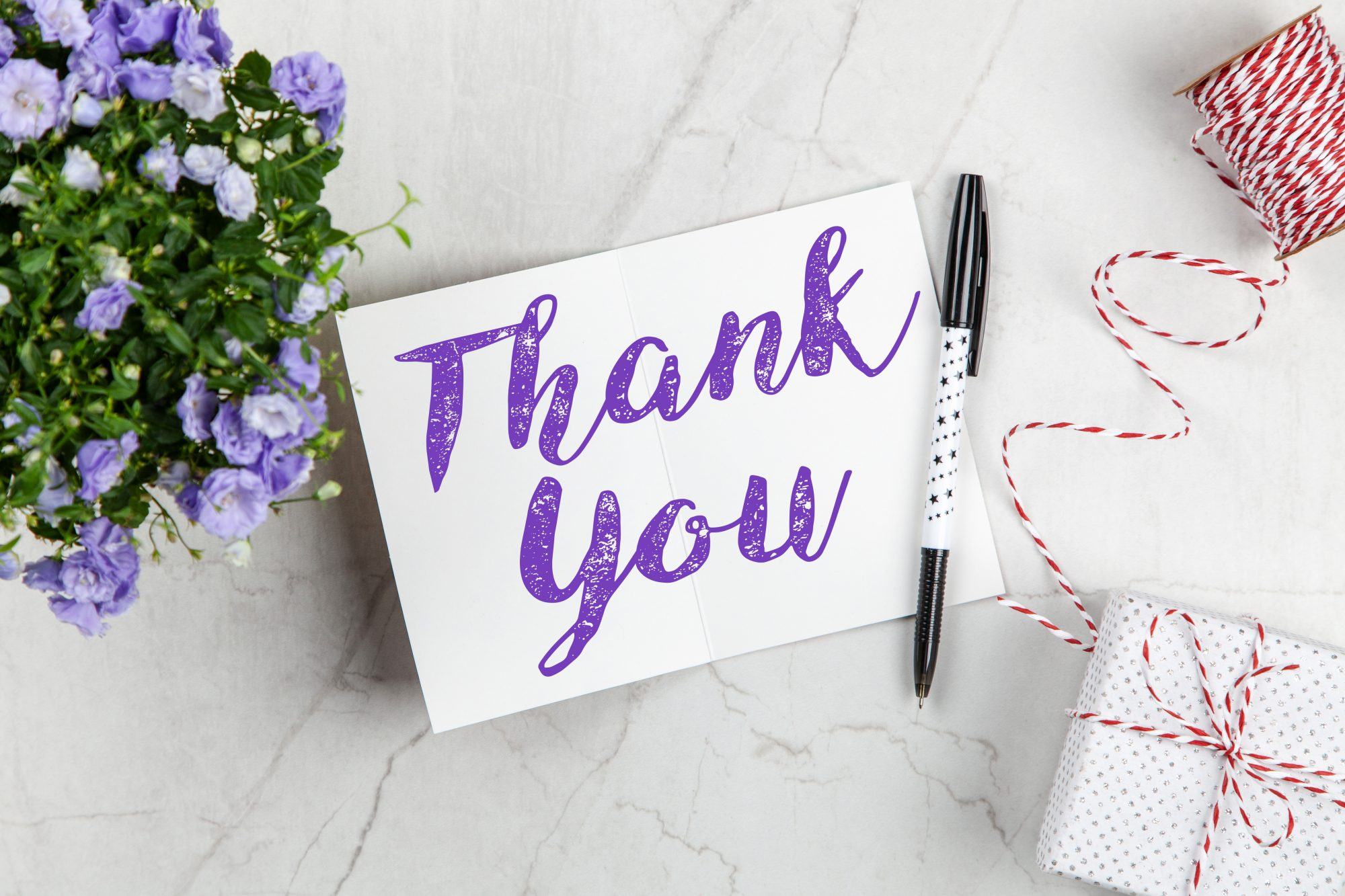 thank you note mockup
