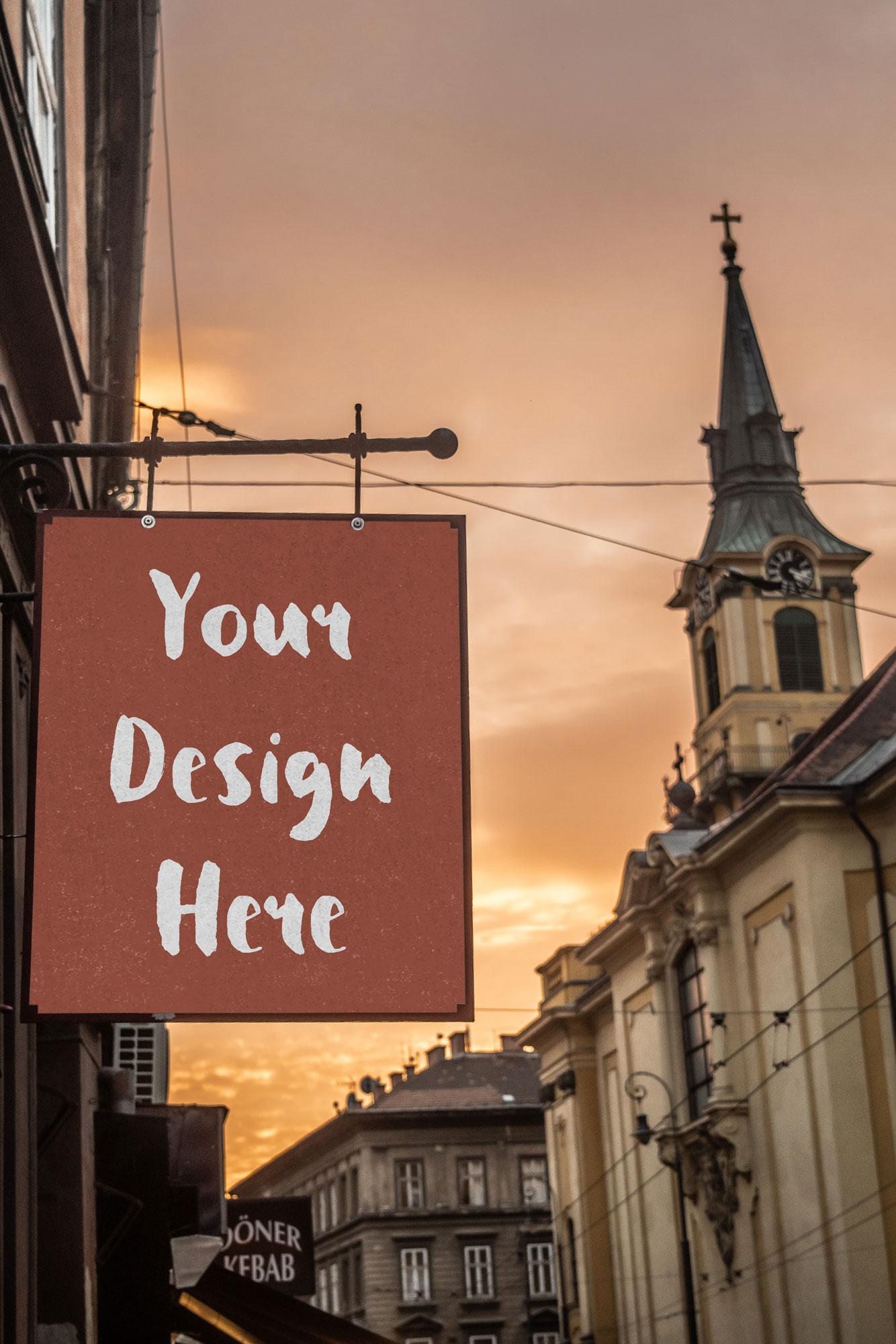 Restaurant Signage Mockup
