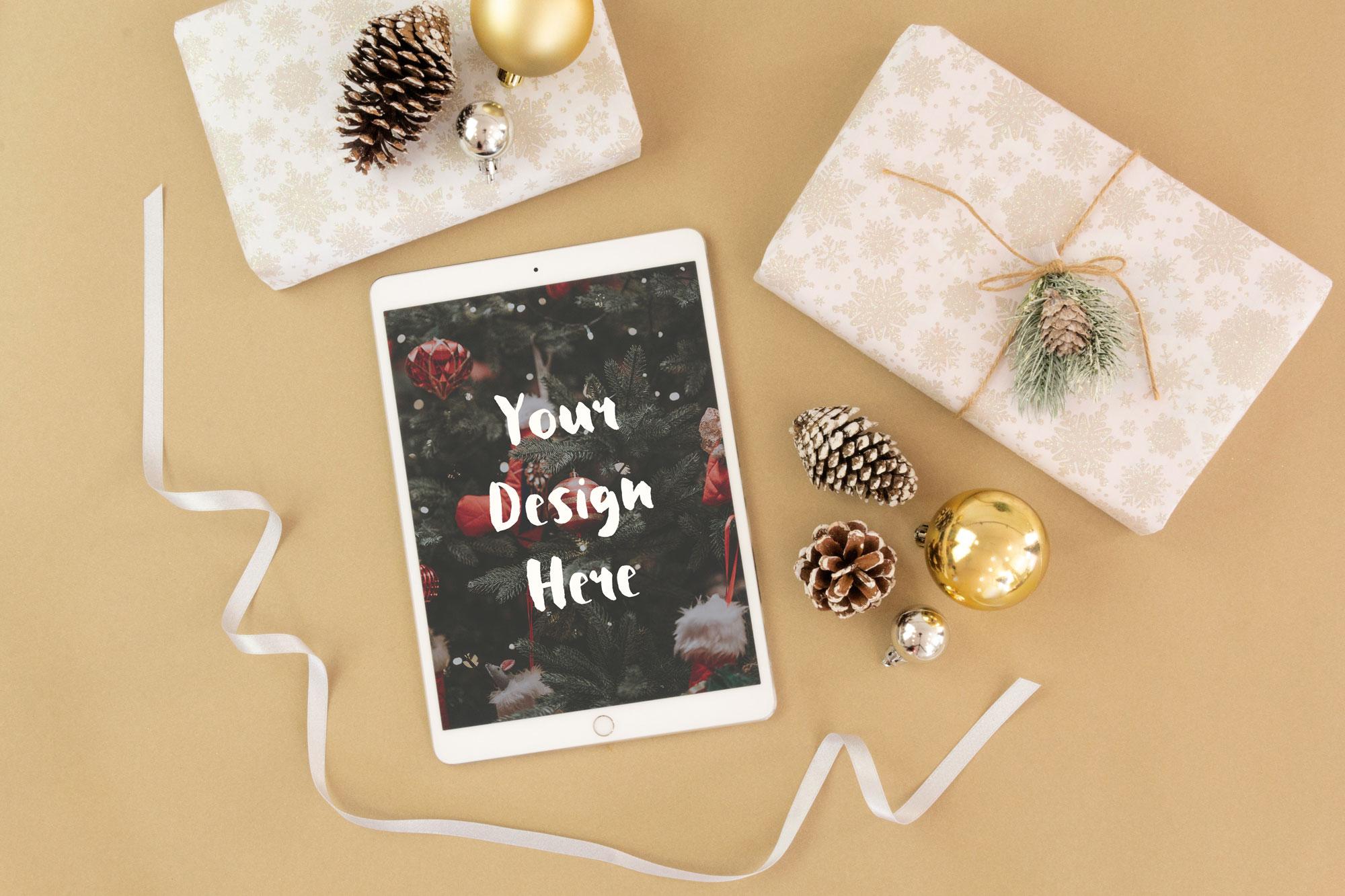 Christmas iPad Mockup