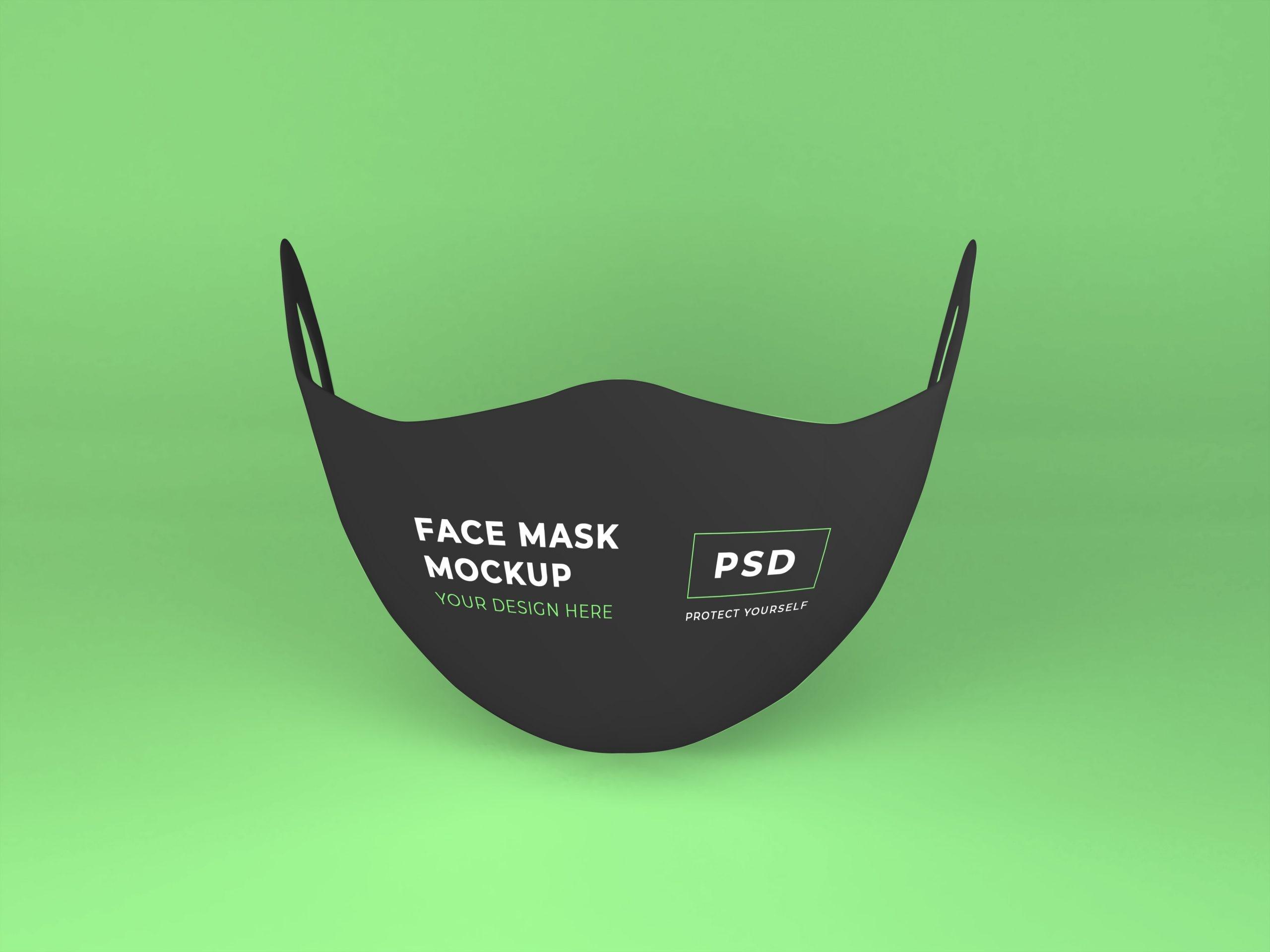 Realistic Face Mask Mockup Template - Free Mockup Download