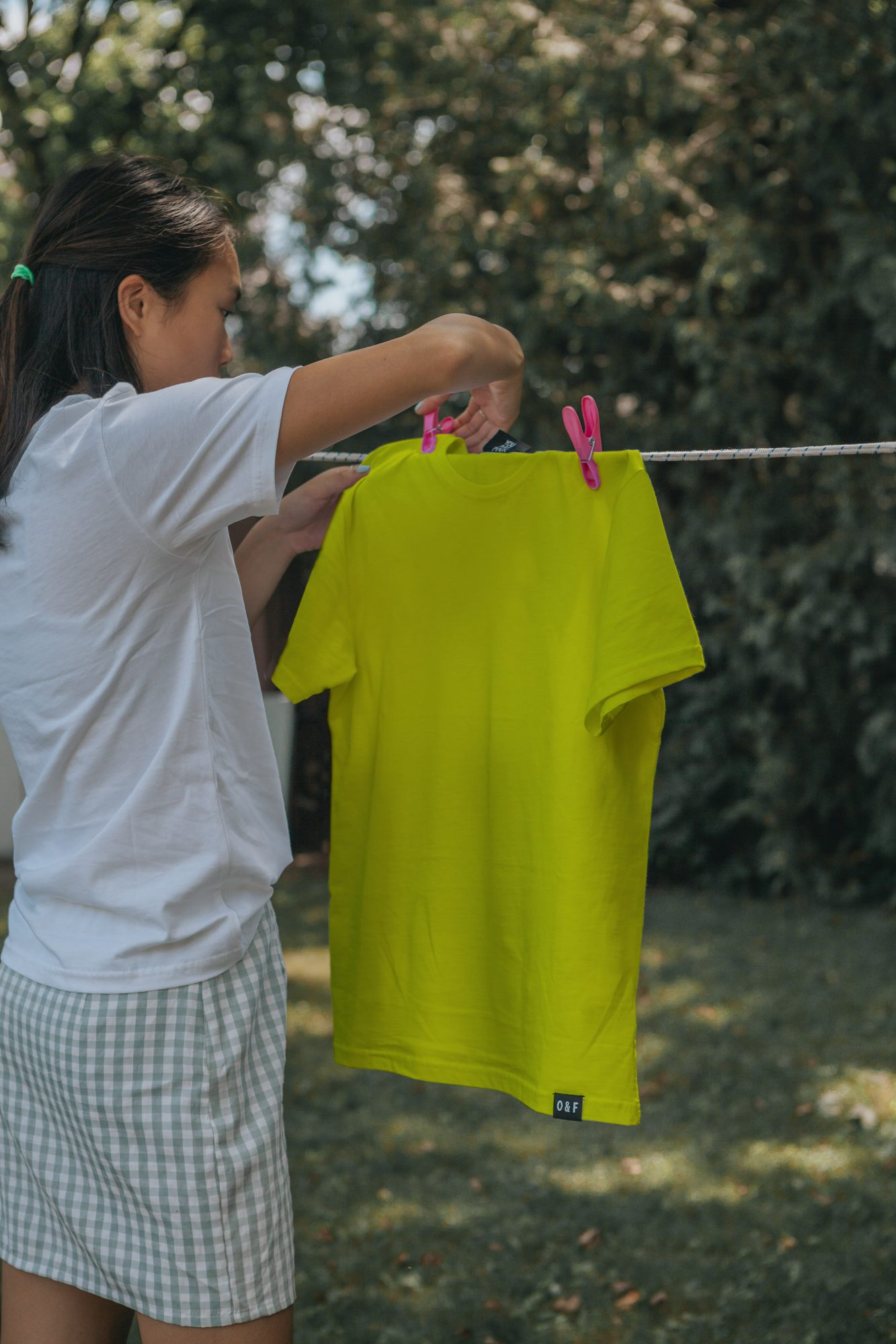 T-shirt Dries on a Rope Free Mockup Colour
