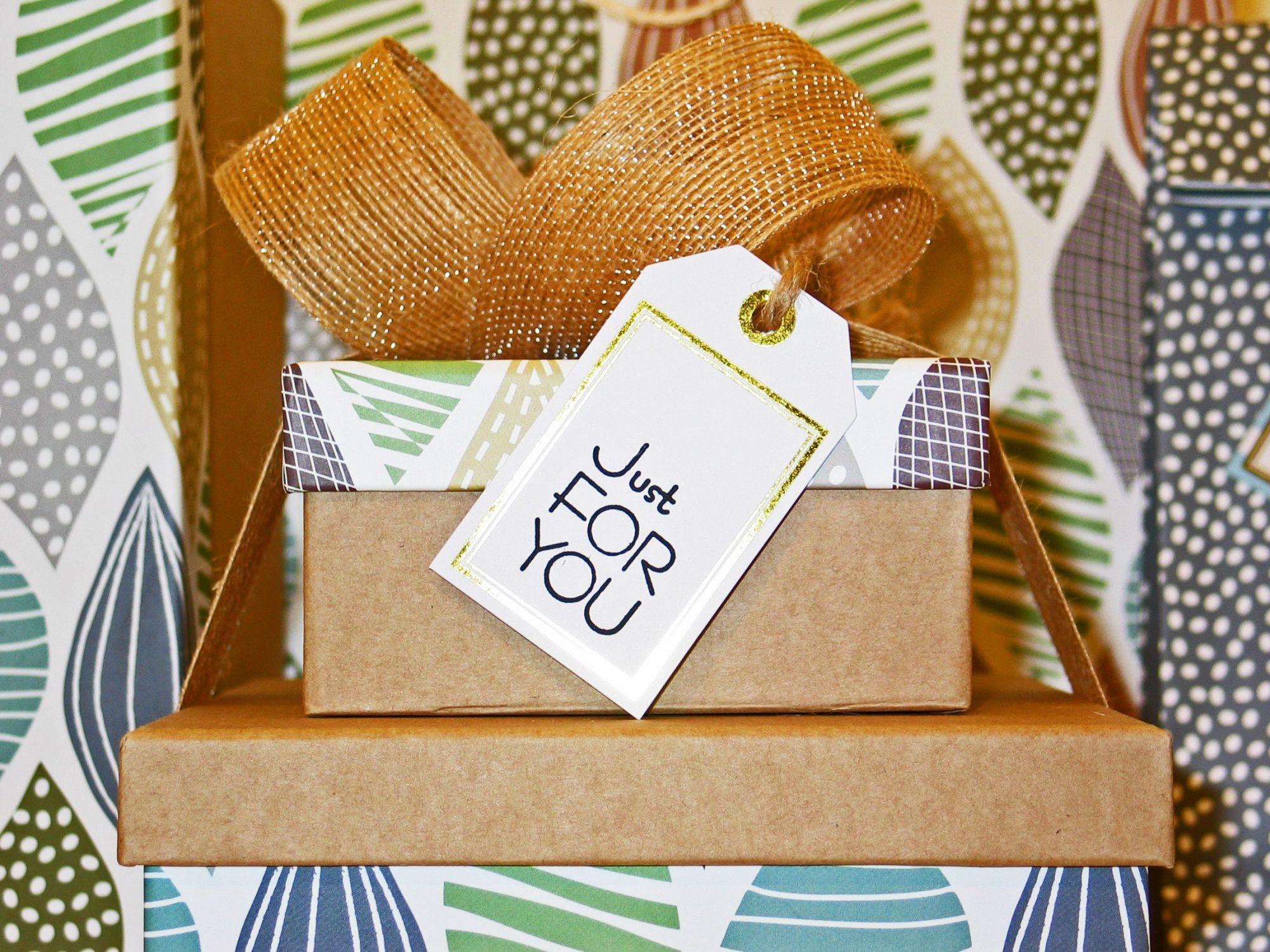 Gift Bow Box Card Mockup Preview