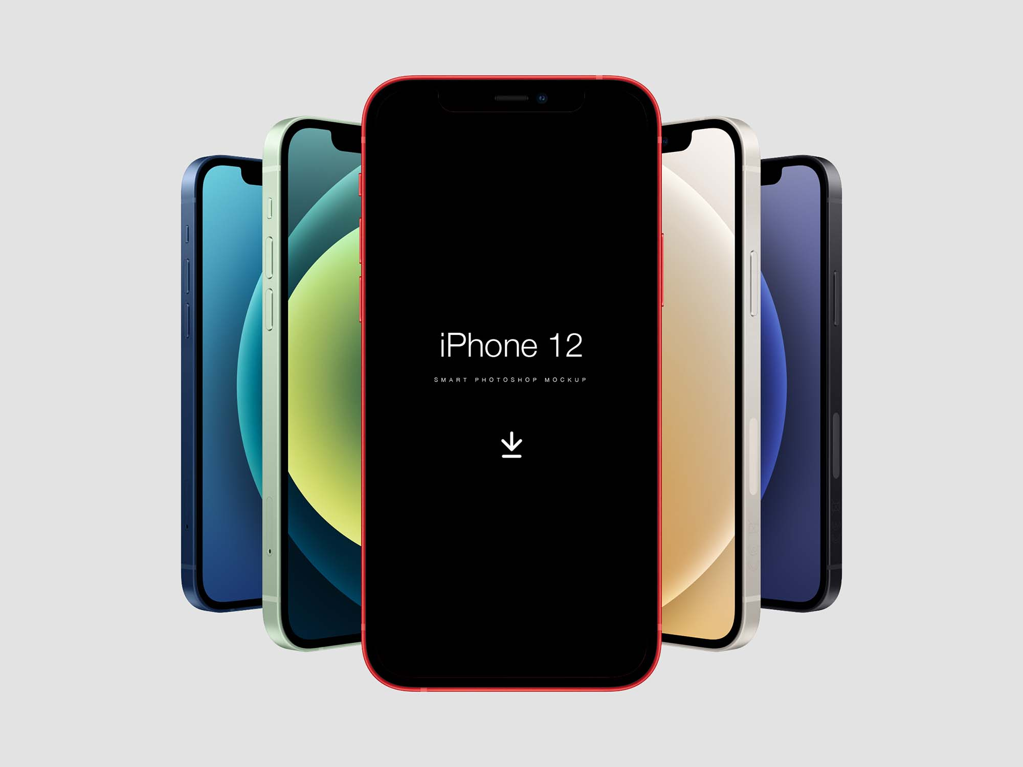 Free iPhone 12 Mockup (PSD)