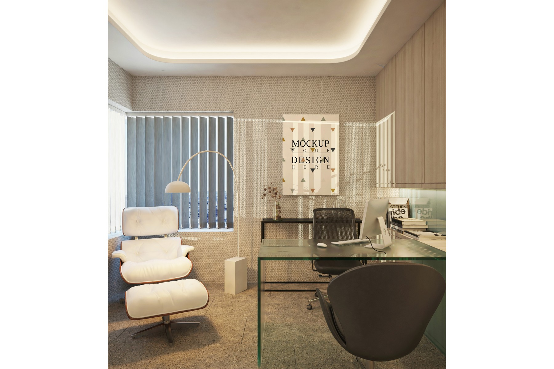 Poster Canvas in Modern Private Office