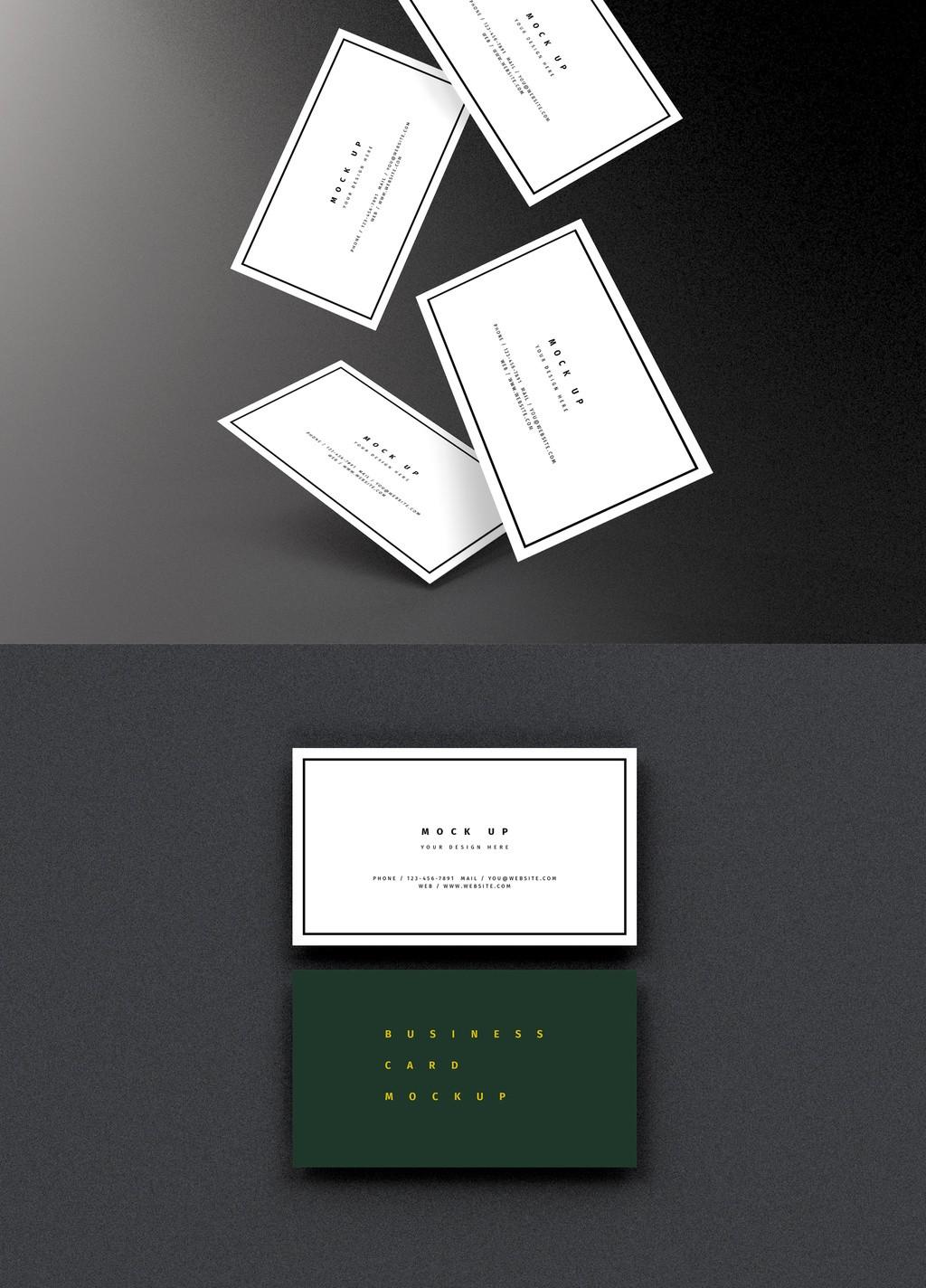 Multiple Business Card Mockup