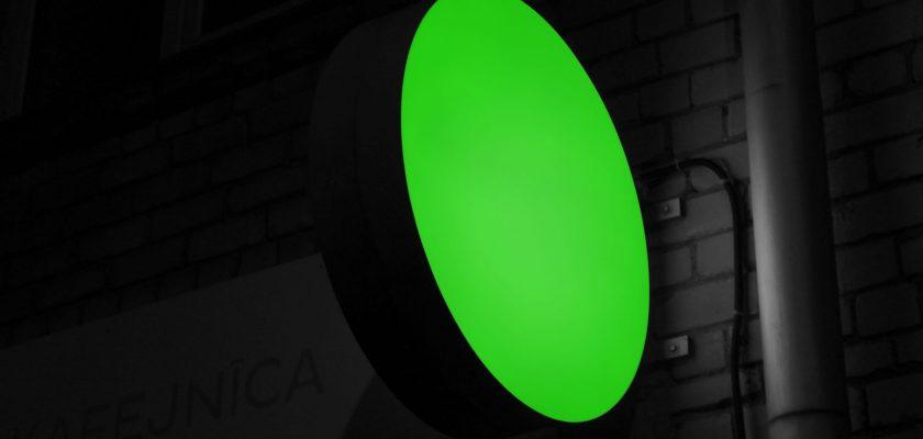 Neon Logo Sign Mockup