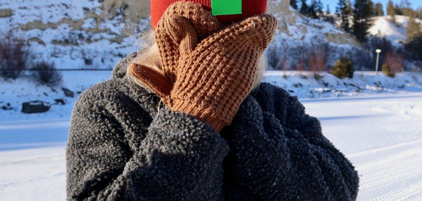 Winter Hat Label Mockup