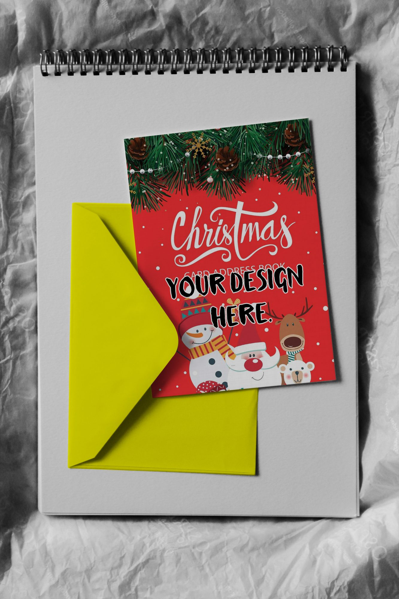 Greeting Card on an Envelope