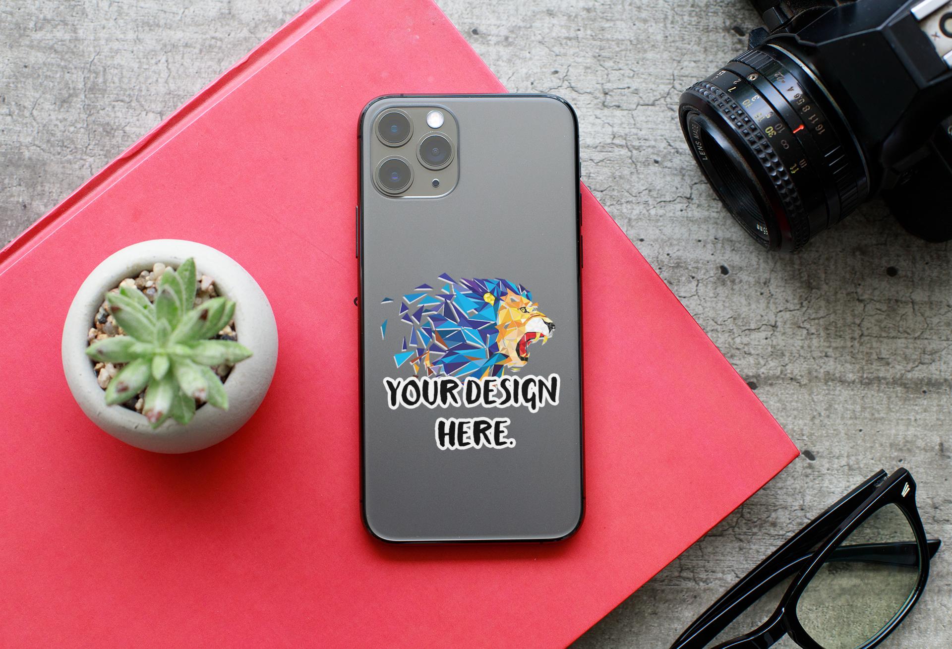 iphone sticker mockup