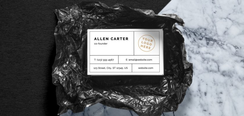 Unwrapped Business Cards Mockup