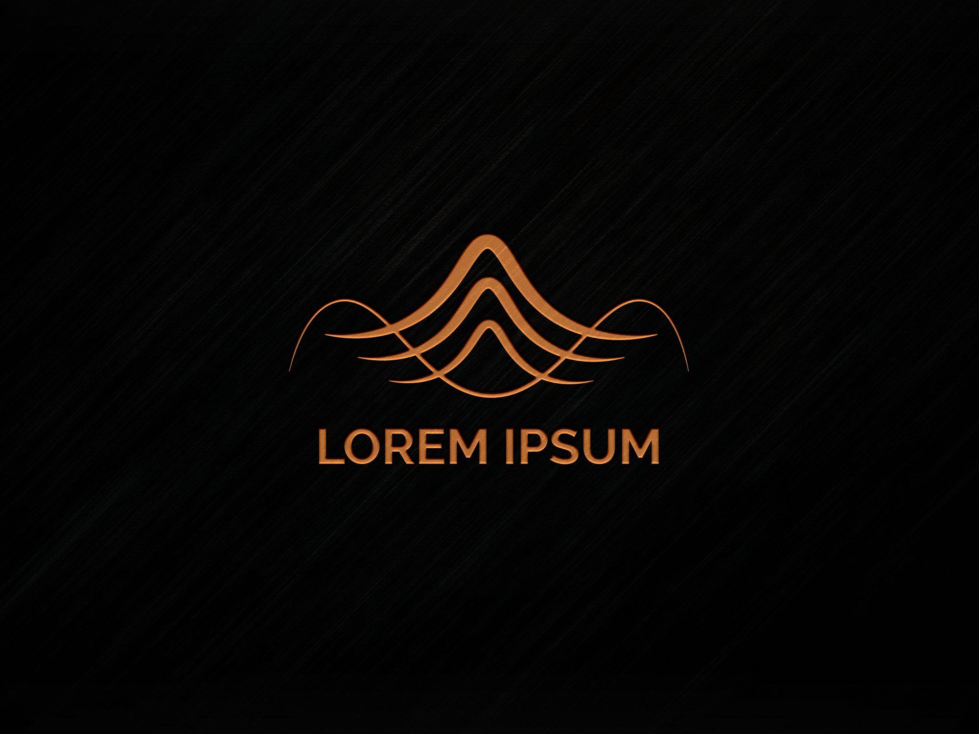 Minimal Logo Mockup with Orange Logo