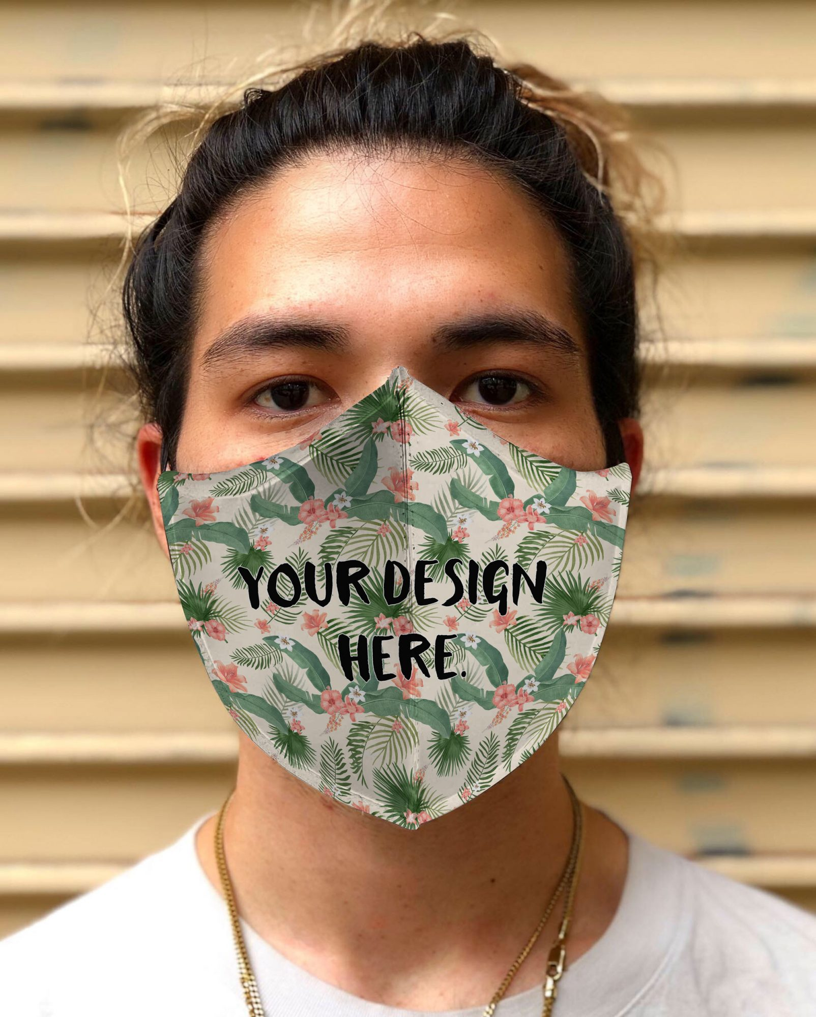 Face Mask Closeup Portrait Mockup