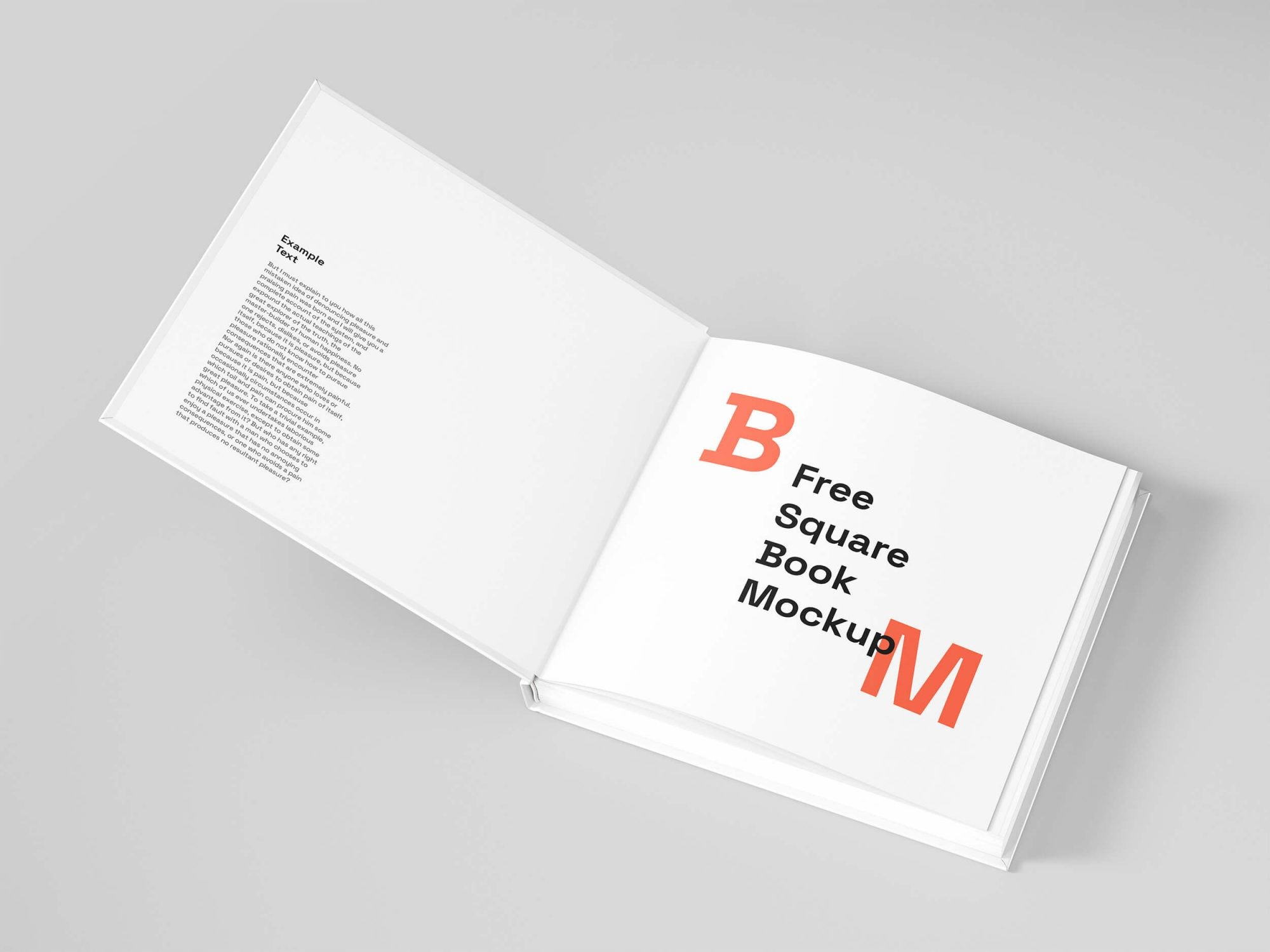 Free Open Square Book Mockup