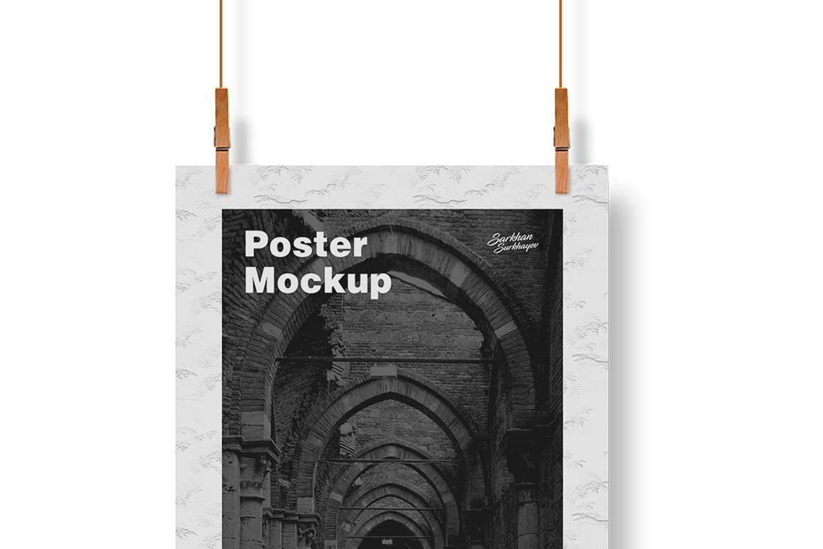 free a3 poster mockup template