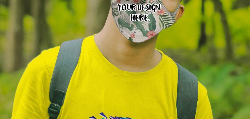 free mask mockup and t-shirt mockup