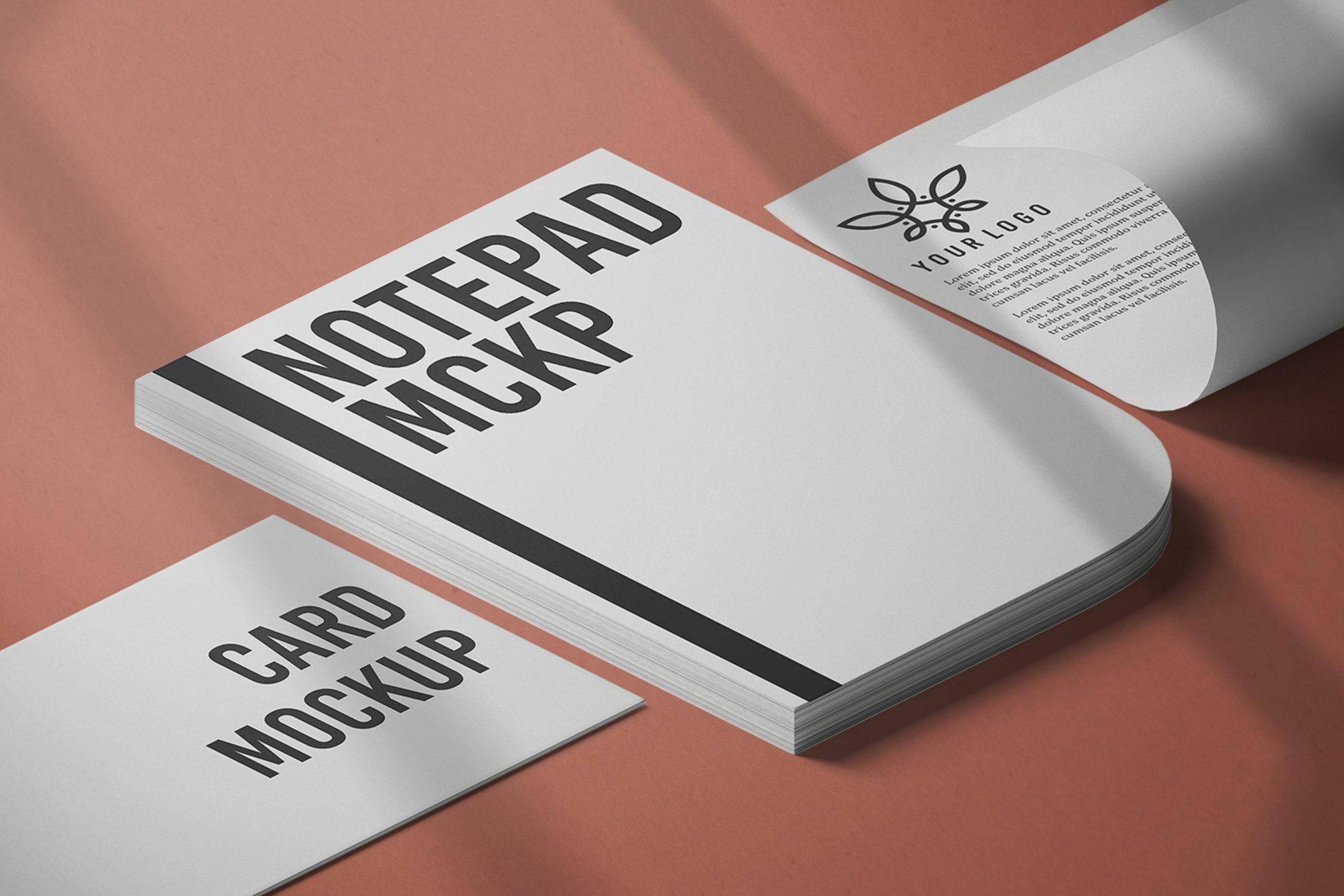 Closed Notepad Mockup Free