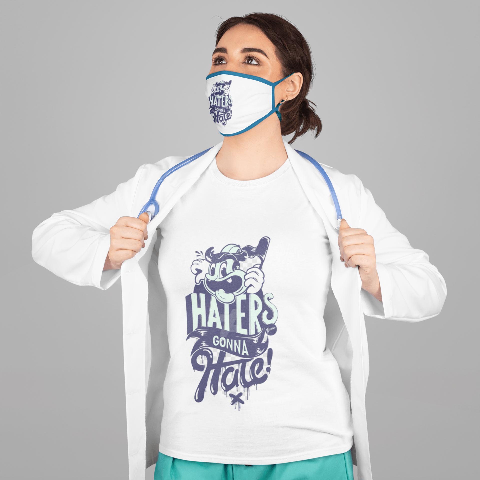 t-shirt and face mask mockup
