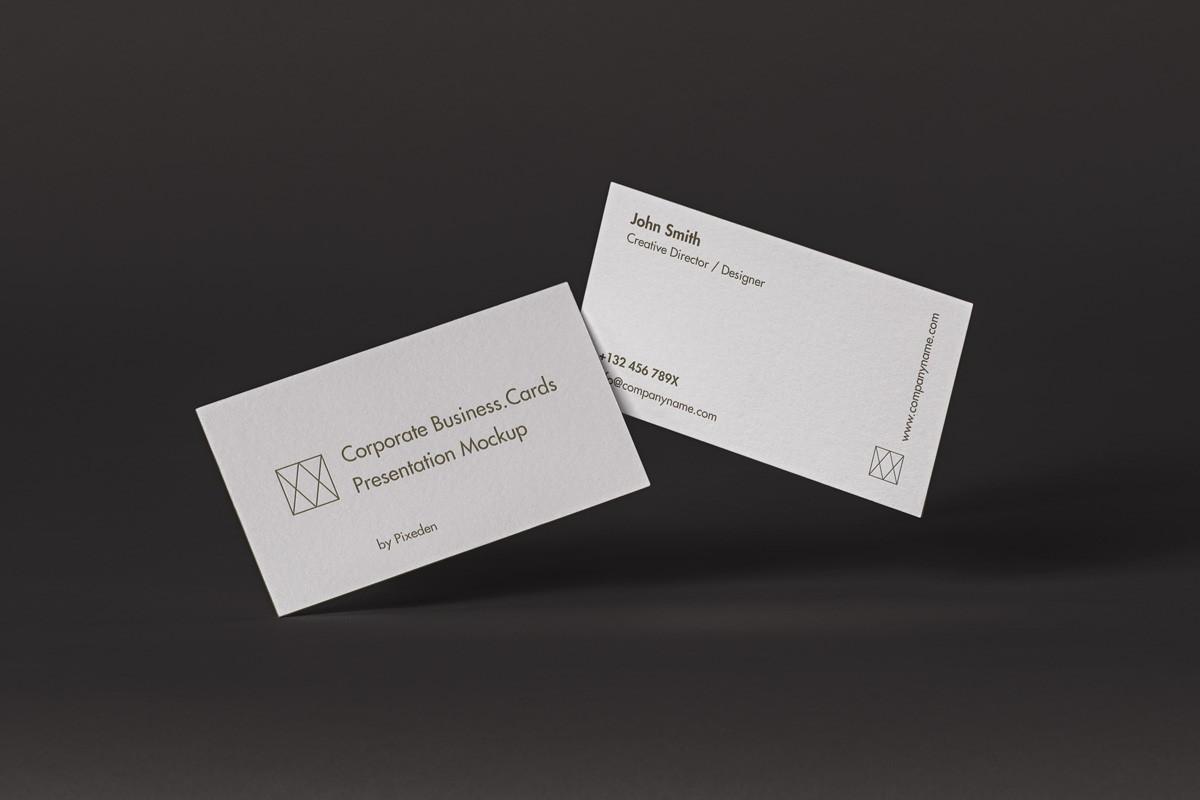 Corporate Psd Business Card Mockup