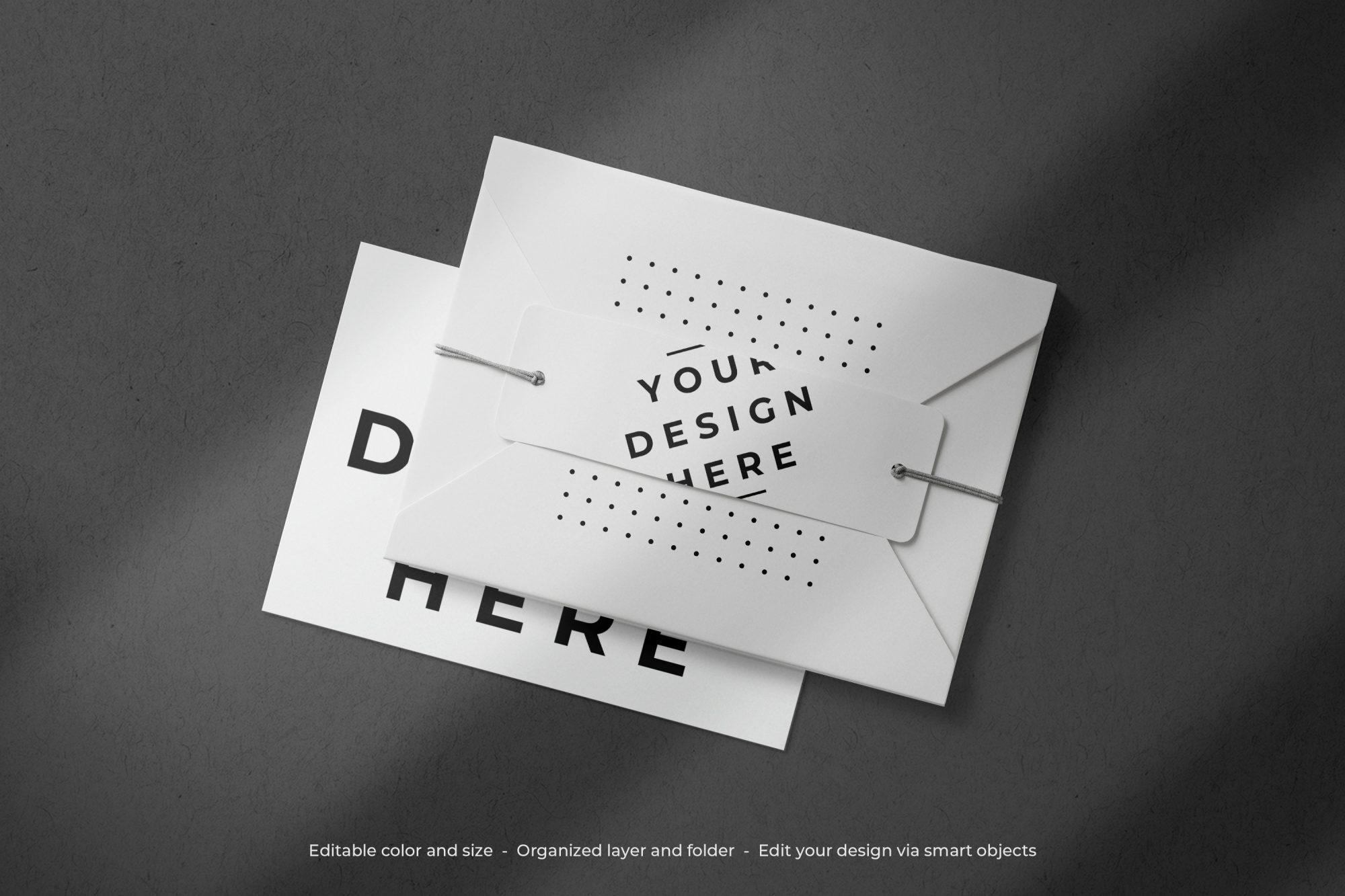 Card with Envelope Mockup