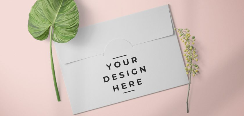 Paper Envelope Card Packaging Mockup