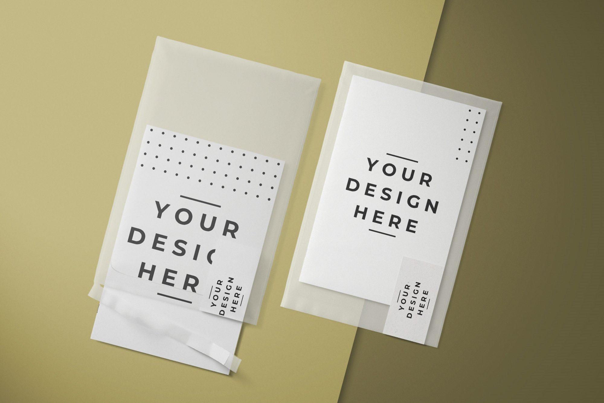 paper envelope mockup free