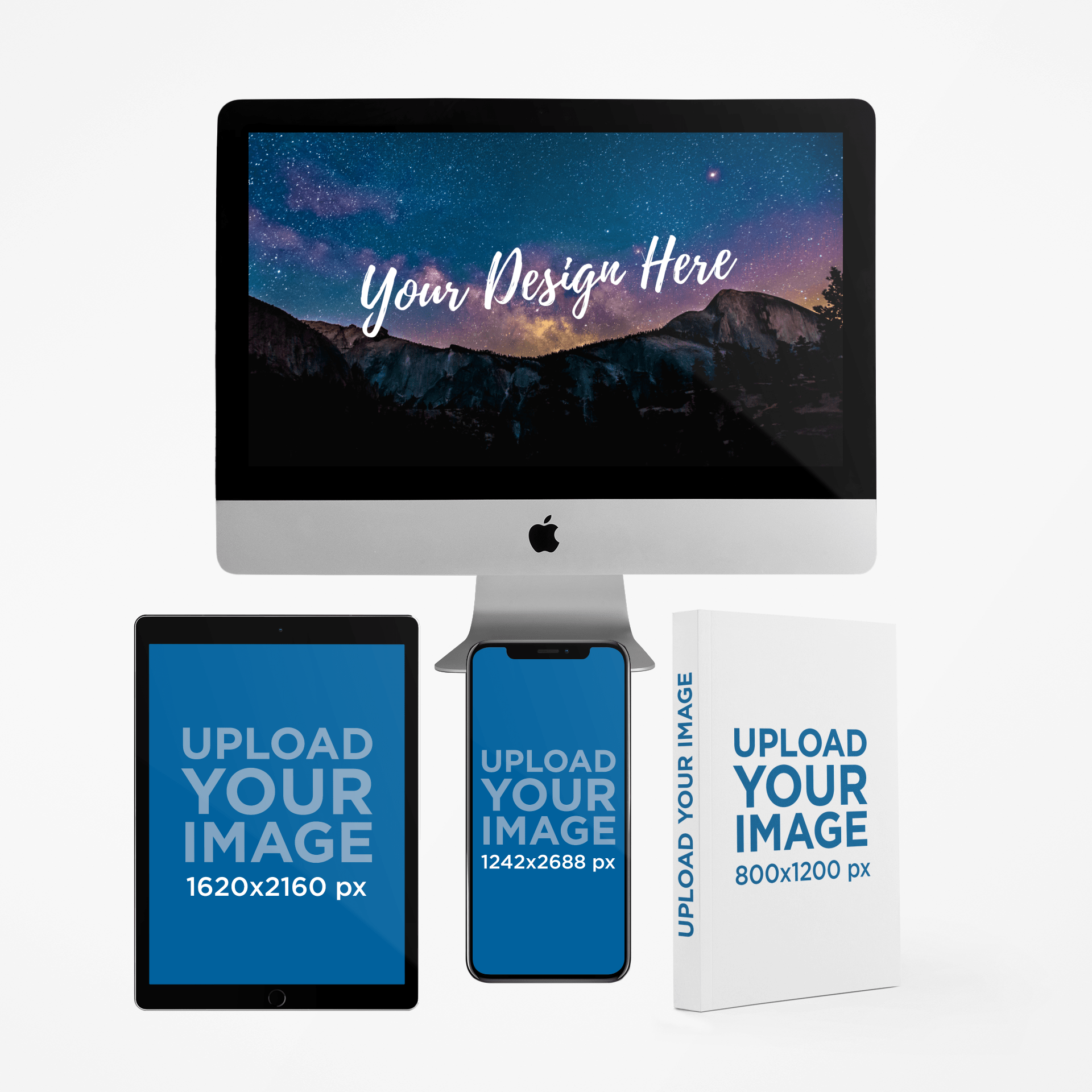Apple Devices and a Book Mockup